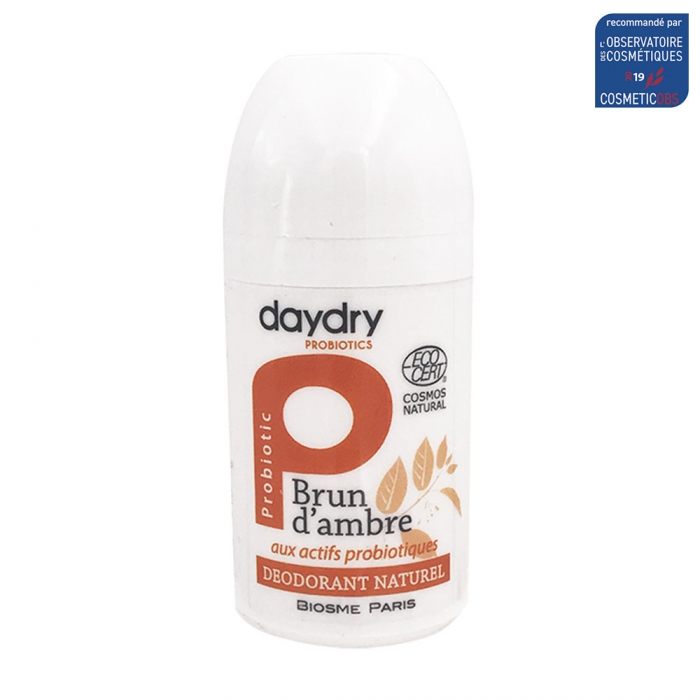 DAYDRY DEODORANT ROLL-ON SOIN PROBIOTIQUE BRUN D'AMBRE 50ML