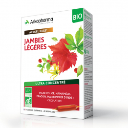 ARKOFLUIDES JAMBES LEGERES BIO 20 AMPOULES