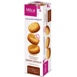MILICAL 12 BISCUITS FOURRES 6 SACHETS DE 2 BISCUITS