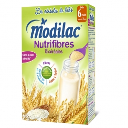 MODILAC CEREALES NUTRIFIBRES 8 CEREALES 6 MOIS-3 ANS 300G