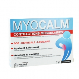 3C PHARMA MYOCALM CONTRACTIONS MUSCULAIRES 30 COMPRIMES