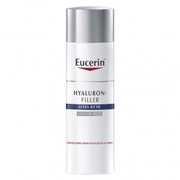 SOIN DE NUIT 50ML HYALURON-FILLER EXTRA RICHE PEAUX SECHES A TRES SECHES EUCERIN